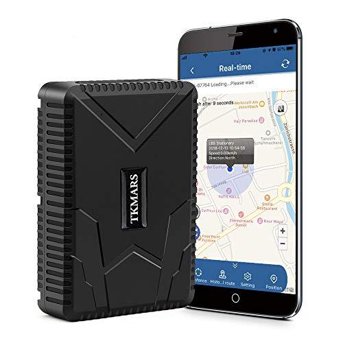 TKMARS Traceur GPS Voiture Aimanté Imperméable,Tracker GPS Véhicule GSM/AGPS Suivi En Temps Réel Antivol Voiture Moto Camion TK915