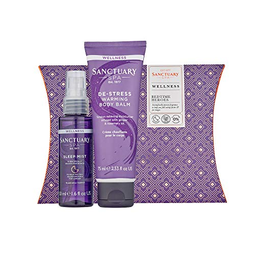 Sanctuary Spa Gift Set, Bedtime Heroes Wellness Gift With Sleep Mist Pillow...