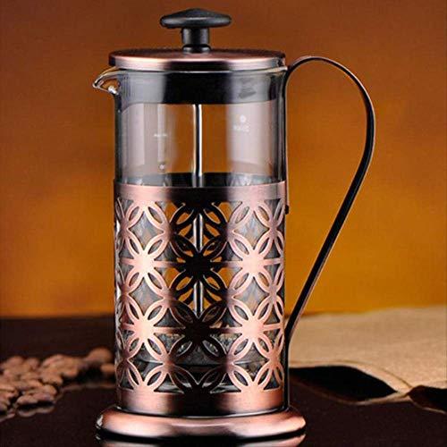 Koffieblik van roestvrij staal, vintage, voor koffie, theapot, koffie, thee, Percolator Filter Press Plunger Coffeeware