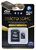 8GB Class 10 MicroSDHC Team High Speed 20MB/Sec Memory Card. Blazing Fast Card For Sciphone Mini KA08. A free High Speed USB Adapter is included. Comes with.