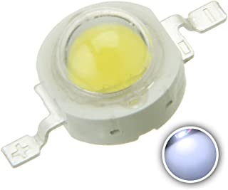 Chanzon 10 pcs High Power Led Chip 3W Cool White (9000K-10000K/600mA-700mA/DC 3V-3.4V/3 Watt) Super Bright Intensity SMD COB Light Emitter Components Diode 3 W Bulb Lamp Beads DIY Lighting