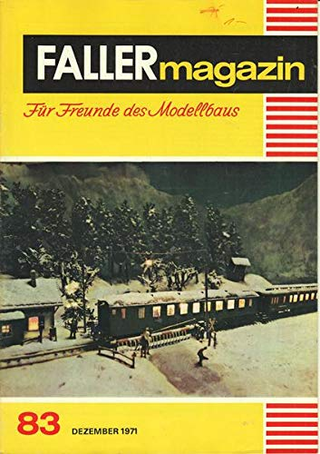 Faller-Magazin Nr. 83/1971 Für Freunde des Modellbaus Katalog