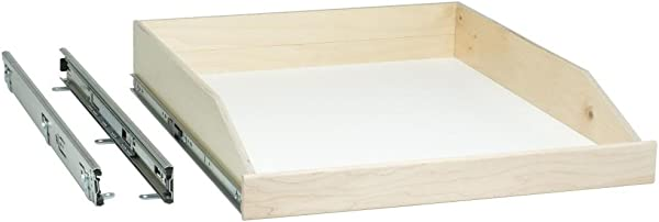 Slide A Shelf SAS SC L M Made To Fit Slide Out Shelf Full Ext Soft Close 6 To 36 In Wide 16 1 2 To 24 In Deep Ready To Finish Maple Front SEE IMPORTANT INFO BELOW