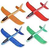 Avion Planeador De Espuma, 4pcs Aviones Juguete, Glider Aviones, Avión de Lanzamiento Juguetes para Niños, Juguete Volador para Niños como Regalo