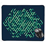 fghjdfcnfd Gaming Mouse Pad,Geometric Ombra Colored Lines Maze Like Circle Round Seem Decorative