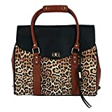 Badgley Mischka Leopard Weekender Tote Travel Bag, Leopard