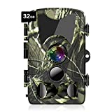 ATOPSUN 2020 Trail Camera, 20MP 1080P Game Hunting Scouting Cam with Clear 90ft No Glow Night Vision, IP66 Waterproof, 3 PIR Sensors 120°Detecting Range, 80FT Trigger Distance, 2.4' LCD with 32GB Card
