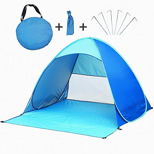 Portable Beach Tent, TISSA Automatic Pop Up Instant Beach Tent Camping Sun Shelters, Ultralight for...