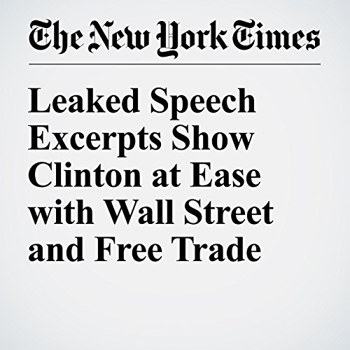Leaked Speech Excerpts Show Clinton at Ease with Wall Street and Free Trade cover art