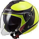 Casco moto LS2 OF573 TWISTER II PLANE Giallo Nero Rosso, Nero/Giallo, M