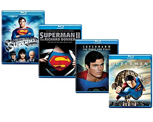 Ultimate Superman 4-Movie Blu-ray Collection: Superman: The Movie / Superman II: The Richard Donner Cut / Superman IV: The Quest for Peace / Superman Returns [Christopher Reeve and Brandon Routh Super