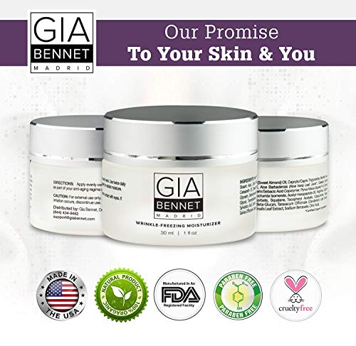 51qhi1VKgbL - GIA BENNET Premium Wrinkle Freezing Moisturizer for Firm Skin Structure, Day and Night Ultimate Luxury Revitalizing Cream- Age Defying Spa, 1oz / 30ml