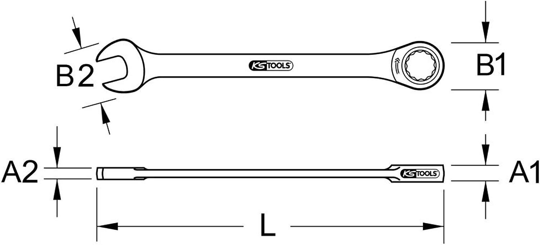KS Tools 965.1014 TITANplus Ratschenringmaulschlüssel, 14mm 14mm 14mm B00QU7Z0E8 | Wunderbar  3a27f6