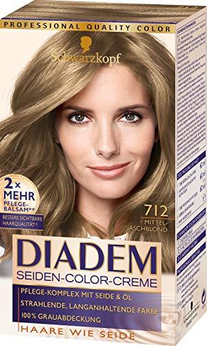 Schwarzkopf Diadem Seiden Color Creme Haarfarbe Mittelaschblond 712