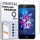 REY Protector de Pantalla para Huawei Honor 8, Cristal Vidrio Templado Premium