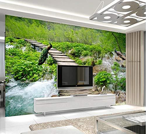 Custom Any Size Wald Stream Trail Landschaft 3D Tv Hintergrund Wand Wandaufkleber Ausgangsdekor Tapete Wandbild
