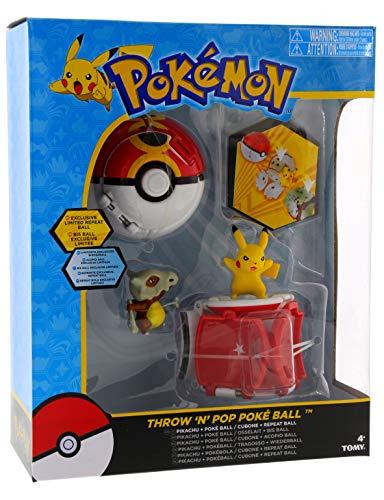 Pokemon Throw 'n' Pop Pokeball Pikachu & Poke Ball / Cubone & Repeat Ball Set de Figuras