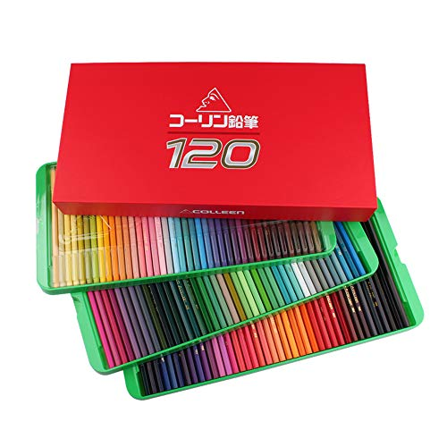 Colleen Colored Pencils, Soft Core, Hard Case Packaged, 120 Pack