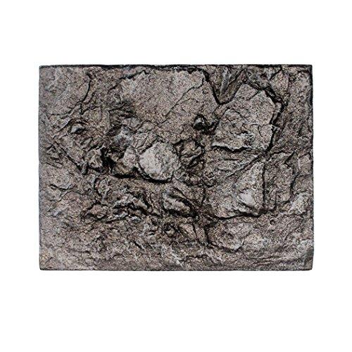 hunpta 3D Foam Rock Reptile Stone Aquarium Background Backdrop Fish Tank Board Decor (E)