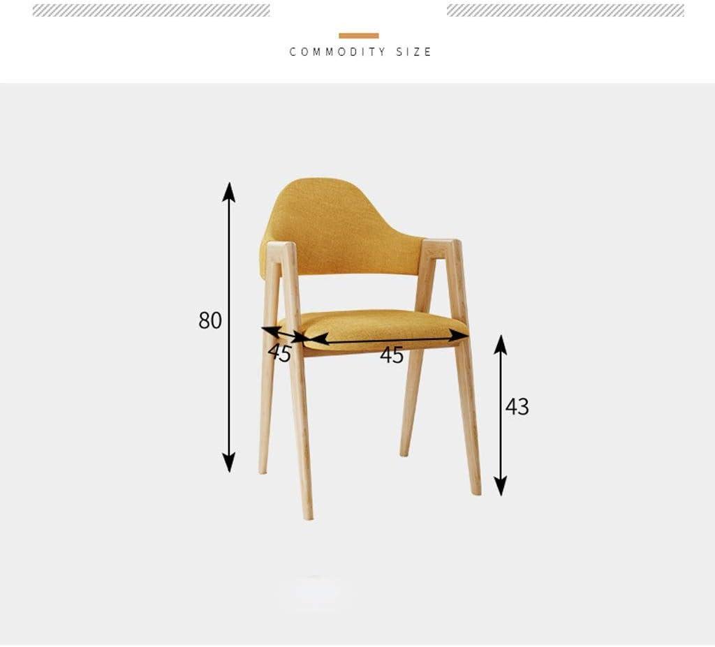 YUMUO Chaise de Salle à Manger Design Moderne Rétro Chaises Longues Premuim Bois et Tissu Chaise Tulipe (Couleur: Café) 8