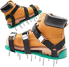 Grarg Lawn Aerator Shoes with Upgraded Strap Design and Non-Slip Metal Buckle, Heavy Duty Spiked Aerating Sandals for Lawn or Yard
