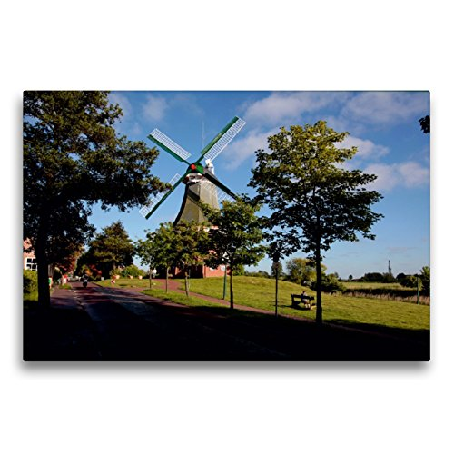 Premium Textil-Leinwand 75 x 50 cm Quer-Format Grüne Mühle | Wandbild, HD-Bild auf Keilrahmen, Fertigbild auf hochwertigem Vlies, Leinwanddruck von Hardy Dreegmeyer