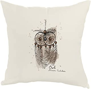 Printed Pillow, Fabric Canvas 40X40 cm, Owl shape