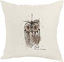 Printed Pillow, Fabric Canvas 40X40 cm, Owl shape