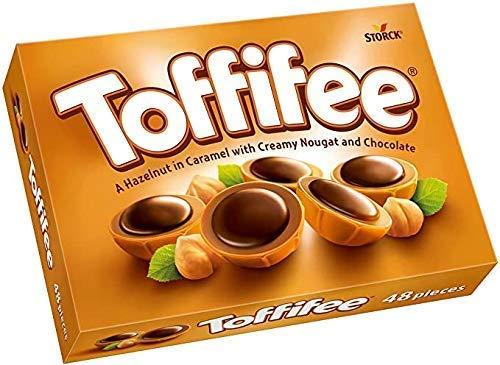 """Storck """"Toffifee"""" Avellanas enteras cubiertas de caramelo con crema de avellanas y chocolate - 1 x 125 gramos"""