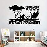 AGjDF Etiqueta de la Pared del león para niños Dormitorio Vinilo Etiqueta extraíble patrón de Dibujos Animados wallpaper42x67cm