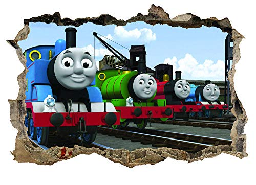 CSCH Tank Engine Sticker Decal Kids Bedroom 3D Muralwall Sticker