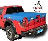 Truck Bed Tarp Cover for Short Box(5.7' Box) Fit for Ford F150 GMC Silverado/Sierra Ram Reflective Strip Waterproof Heavy Duty 600D Oxford Fabric Pickup Truck Bed Cover with Bungee Cords