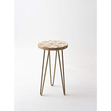 CASADECOR Garden Resin Table with Metal Hairpin Legs (Multicolour)