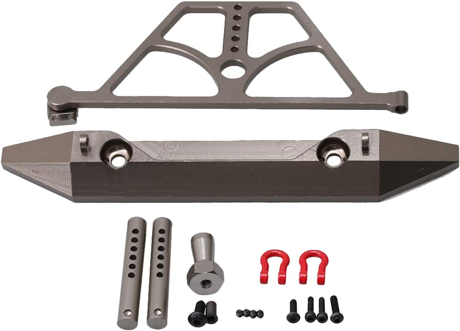 BQLZR Aluminum Alloy SCX0039 Rear Bumper & Rear Shock Tower Anti-Collision Predection Kit RC1 10 for AXIAL SCX10 Electric 4WD