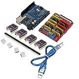 Arduino 3D Printer kit Sevenmore CNC Shield + UNO-R3 Board + 4 X DRV8825 Driver Kit for Arduino 3D Printer