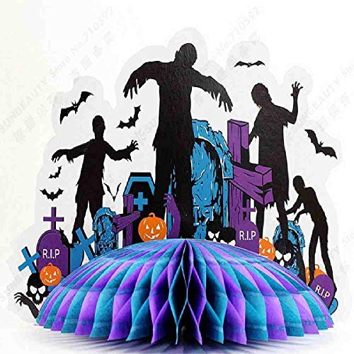 OLUYNG Zombie Party 3D Zombie Centro de Mesa Decoración de la casa Casa embrujada Castillo Encantado Centro de Mesa Casa fantasmagórica Centro de Mesa de Halloween