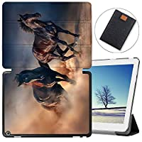 MAITTAO Case For Huawei MediaPad M3 10.1 BAH-W09, Slim Folio Smart Stand Cover with Auto Wake/Sleep For Huawei Honor WaterPlay 10.1 / Dtab D-01K 2017 Released Android Tablet, Akhal-Teke Horse 11