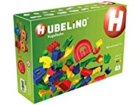 HUBELINO Marble Run - 128-Piece Run Elements Expansion Set - the Original Made in Germany - Certified and Award-Winning Marble Run - 100% compatible with Duplo