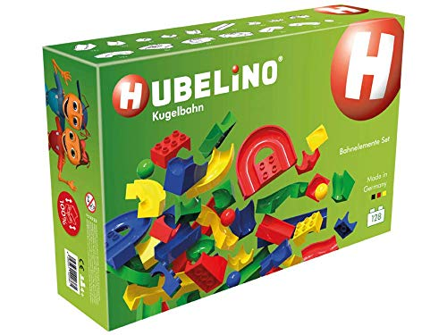 Hubelino Marble Run - 128-Piece Run Elements Expansion Set - The Original! Made in Germany! - Certified and Award-Winning Marble Run