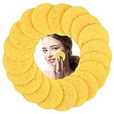 50 Stück Gelb Gesichtsschwamm Rund