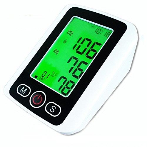 XSQRXYQ Retroiluminación de Tres Colores con Voz Monitor de Pulso de presión Arterial de Brazo con función de Voz LCD Medidor de Ritmo cardíaco portátil de medición automática de atención médica