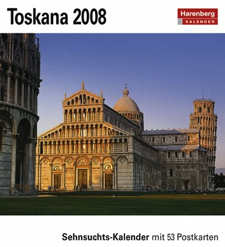 感謝している隔離する食用Harenberg Sehnsuchts-Kalender Toskana 2008