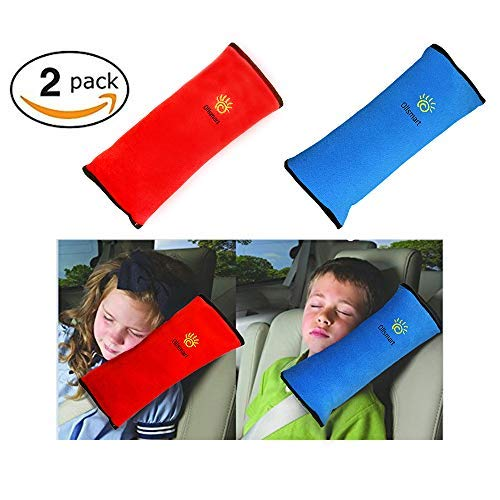 KOAZLY Car Seat Belt Pillow for Kids - Premium SeatBelt Pillow Vehicle Shoulder Pads Headrest Neck Support Car Pillow for Kids, Safety Belt Covers Protector Cushion, Adjuster Travel Pillow - 2 Pack