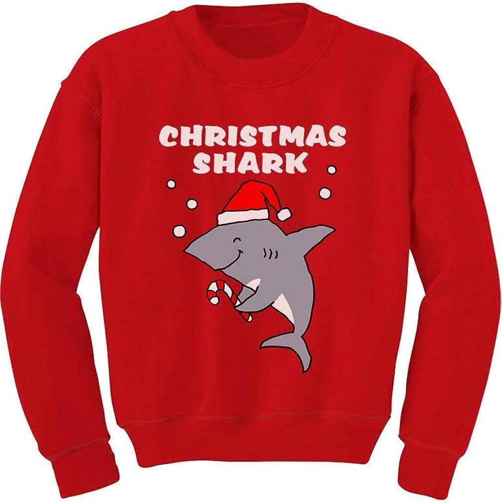 Christmas Shark Cute Toddler Kids Sweatshirt