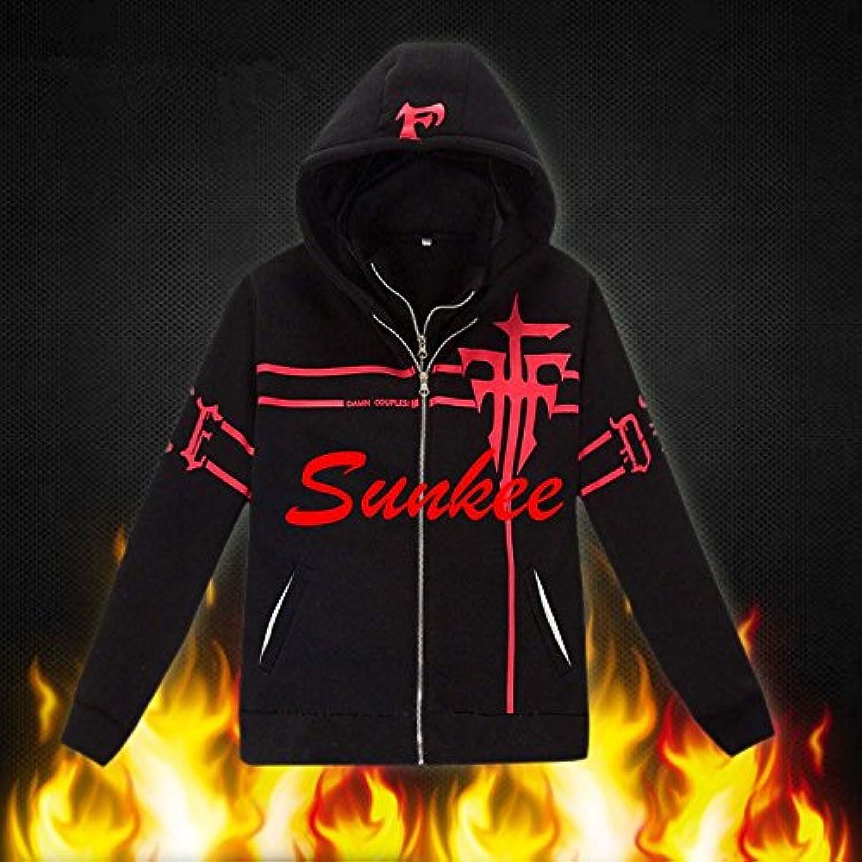 SUNKEE Anime Cosplay FFF Hoodies Coat Men's & Women's Coat Tops Cosplay Collection KK (Men  XXLarge)