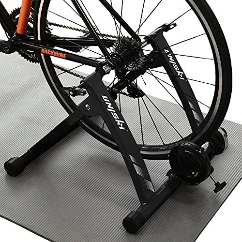 Unisky Rodillo Bicicleta Magnético de Ciclismo Rodillo Entrenamiento Bicicleta para Ruedas de 26'-28' o 700C, Plegable y Silencioso Bike Trainer para Ejercicios Ciclismo en Casa