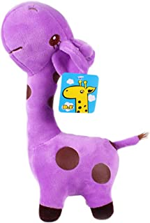 WinTime Kawaii 14'' Tall Stuffed Giraffe Soft Plush Toy Doll (Purple)