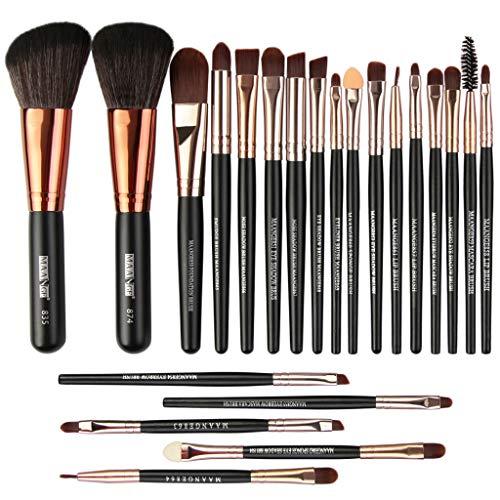 Outils de maquillage en bois Set de maquillage Kit de toilette Make Up Set Brush Set 22Pcs