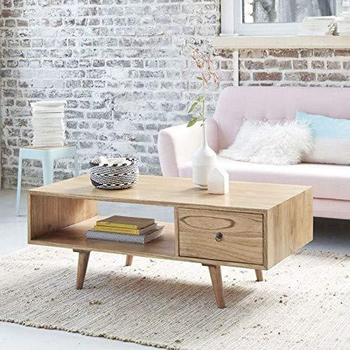 Table Basse en Bois de Mindy avec tiroir