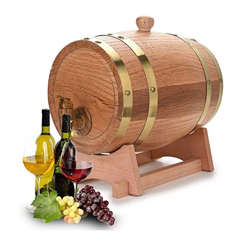 DYB Bicchieri Whisky Decanter per Whisky Oak Invecchiamento Botti di Whisky Barile Dispenser Vino Benna Senza Perdite for Il Rimessaggio Wine & Spirits & Whisky, 5L